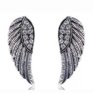 Goddess Angel wing Rhinestone earrings